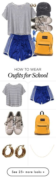 """""""it's not me, it's adidas"""" by mereonir on Polyvore featuring Athleta, adidas, JanSport and Jean-Paul Gaultier"""