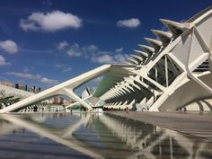 Prachtig toch? De moderne architectuur van het Ciudad de las Artes y las Ciencias.