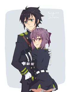 Yuichiro x Shinoa by divenna on DeviantArt Shinoa Hiiragi, Seraph Of The End, Manga Couple, Owari No Seraph, Neon Genesis Evangelion, Anime Ships, Cute Love, Me Me Me Anime, Anime Couples