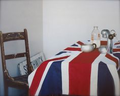 From our '82 Modern Style Ideas' book - turn a British flag into a tablecloth. Thanks The Life Creative for the lovely blog post.
