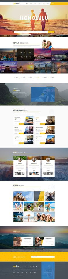 SunTour – Creative Travel Agency PSD Template suitable for a wide variety of businesses.