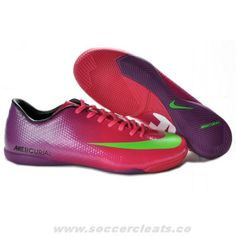 Buy Red Purple Green Nike Mercurial Vapor IX IC CR9 Victory IV IC Indoor Boots