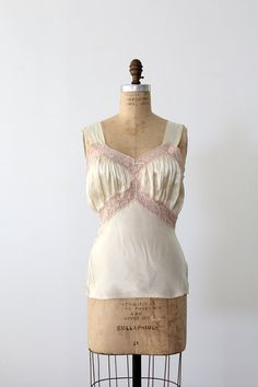 vintage satin and lace camisole by 86Vintage86 on Etsy