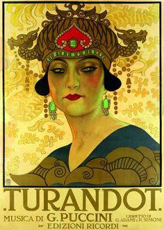 Leopoldo Metlicovitz, Turandot, 1926, colour lithograph. (Milan, Archivio Storico Ricordi)