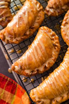 Maple Brown Butter Glazed Amish Apple Fry Pies. These sweet dessert ...