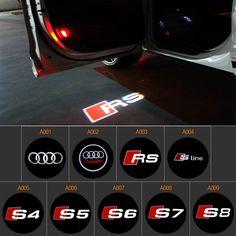 2pcs LED Car Door Logo Projector Light For Audi A1 A3 A4 B6 B8 A6 C5 80 A7 Q3 Q5 Q7 TT RS4 RS5 RS6 S4 S5 S6 S7 RS Sline Audi A1, Top Sales, A3, Logo, Logos, Environmental Print