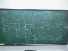 Las pizarras del cole,..., las clases de Física de 7. de EGB...