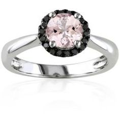 Belk%3Flayer%3D0%26src%3D5400426_7504923507_A_960_T10L00%26layer%3Dcomp%26 Best Deal Belk & Co. Sterling Silver Morganite and Black Diamond Ring