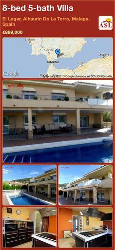 8-bed 5-bath Villa in El Lagar, Alhaurin De La Torre, Malaga, Spain ►€899,000 #PropertyForSaleInSpain