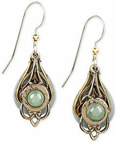 Silver Forest Two-Tone Filigree Drop Earrings
