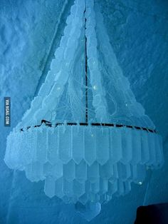 Chandelier Made of Ice