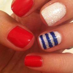 4th of july nails | 4th of July nails