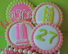 inspired lilly pulitzer cookies