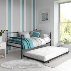 Best Quality Full Platform Bed with Twin Trundle Bed, Multiple Colors - Walmart.com - Walmart.com