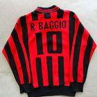 For Sale - Men's Red & Black Diadora Roberto Baggio AC Milan Long Sleeve Soccer Shirt - S - See More at http://sprtz.us/ACMilanEBay