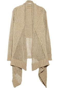 MICHAEL MICHAEL KORS  Open-knit cotton-blend cardigan