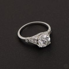 Vintage Engagement Rings. A stunning Art Deco Engagement Ring. Circa 1920. Part of EDJ Vintage Engagement Ring Collection.