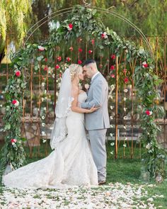 Today we're celebrating all things floral and feminine with this romantic garden wedding inspiration by Emi Fuji Photography. Outside Wedding Ceremonies, Ceremony Arch, Wedding Show, Wedding Ceremony Decorations, Wedding Veils, Wedding Hair, Bridal Hair, Wedding Stuff, Wedding Gifts