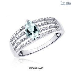 0.70ctw Genuine Aquamarine & White Diamond Ring in Sterling Silver - http://12hourdealsforyou.com/product/0-70ctw-genuine-aquamarine-white-diamond-ring-in-sterling-silver/