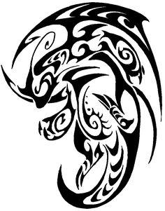 Tribal Dragonite Pokemon Tattoo