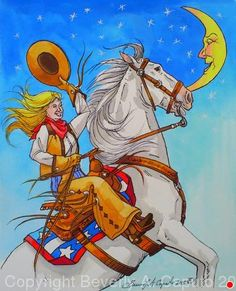 "Rodeo Queen! by Beverly Caputo Watercolor ~ 11"" x 9"""
