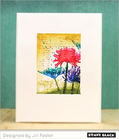 VIDEO TUTORIAL: Creating miniature one-layer watercolor scenes using Penny Black stamps