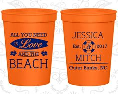 Custom Cups, Personalized Cups, Wedding Cups, Personalized Plastic Cups, Stadium Cups, Party Cups, Plastic Cups (416)