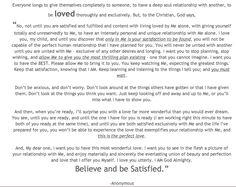 Believe & Be Satisfied