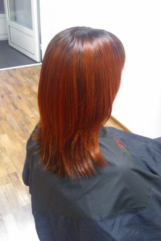 Beautiful red copper haircolor. Hair by Emmi/Parturi-kampaamo Salon Maria Seinäjoki