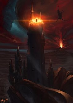 Barad-dur, Anthony Avon on ArtStation at https://www.artstation.com/artwork/lxaba