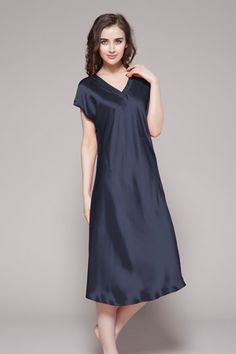 4bb4559db6 22 Momme Relaxed Fit Long Silk Nightgown