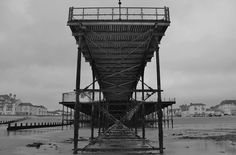 Black and white view from the end of the Pier at Bognor.