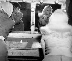 Joan & Jayne - the vanity is plain, the women are not