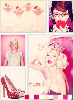 Valentine's Day glamour girl palette by Christine Rose Elle  starring Bryce Dallas Howard for Kate Spade, Christina Aguilera by Ellen Von Unwerth, Amy Poehler