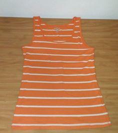 Old Navy Perfect Tank Cotton Womens Sz XL Orange & White Striped Tank Top  #OldNavy #TankCami #Casual
