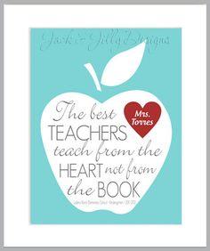 TEACHER CHRISTMAS GIFT  The Best Teachers by JackandJillyDesigns, $14.00