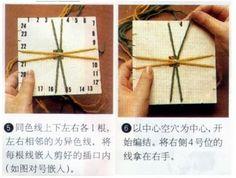 Barbaridade: KUMIHIMO - disco caseiro de papelão