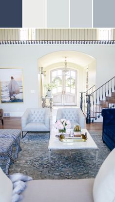 Rach Parcell's Living Room Designed By Lisa Perrone | Stylyze Creative Director via Stylyze