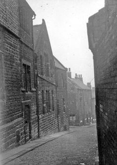 Vincent's Roman Catholic School for girls, left. Back to back houses in background My Family History, South Yorkshire, Catholic School, Slums, Antique Prints, Roman Catholic, Sheffield, Old Photos, Past