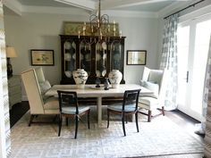 dining room from the Richmond Symphony Designer House by Moyanne Harding