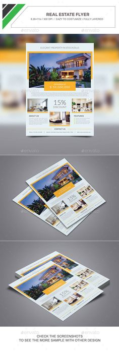 Real Estate Flyer Template PSD. Download here: http://graphicriver.net/item/real-estate-flyer/15170661?ref=ksioks
