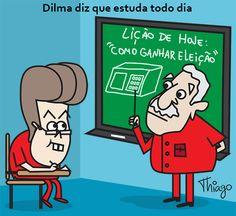 Dilma diz que estuda todos os dias...