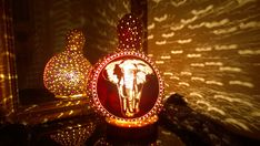 The Walk Elephant Theme Handmade Gourd Lamp and a Unique Gift Idea
