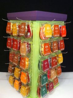 Spinning Scentsy Display for Bar Travel Tins Scent Circles Green