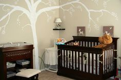 My mom and I decorated baby Boyce's room in a woodland theme. Bareley finished the painting before I was put on bed rest. We have since moved but am contemplating the next big painting project!