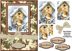 Home for Christmas on Craftsuprint designed by Diane Furniss - A Quick and Easy…