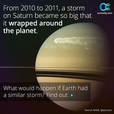 Watch Saturn's largest storm form and encircle the planet at Curiosity.com.