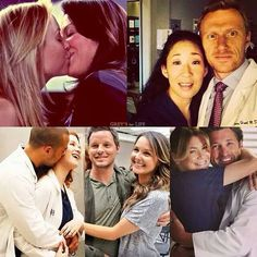 Grey's anatomy. All the couples!!