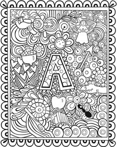 Welcome to Dover Publications Seek, Sketch, and Color- Alphabet Dover Coloring Pages, Alphabet Coloring Pages, Printable Coloring Pages, Adult Coloring Pages, Coloring Sheets, Coloring Books, Coloring For Kids, Free Coloring, Fairy Coloring