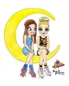 Pobarvanka Soy Luna na voljo vsem popolnoma brezplačno! Best Friend Drawings, Bff Drawings, Kawaii Drawings, Art Drawings Sketches, Disney Drawings, Cartoon Girl Drawing, Girl Cartoon, Disney Channel, Luna Anime